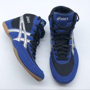 ASICS Blue Black Wrestling Sneakers 8.5 M